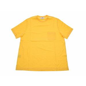 エルメス(Hermes) 新品 エルメス メンズ クルーネック ポケットTシャツ 鹿のこ コットン100% 黄色 サイズXL HERMES◇