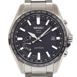 Seiko Men's Watch Astron 8x Series Sbxb 161 Black (Black) Dial Face Gps Radio Solar As New