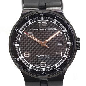 [Porsche Design] Porsche Design Men's Watch Flat Six 6351.43 Black Dial