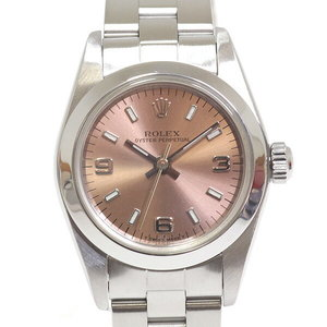 [Rolex] Rolex Ladies Watch Oyster Perpetual 76080 A (Made In 1999) Pink Dialing Oh Already