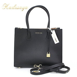Michael Kors Michael Course Kors Mercer (Merser) Large Convertible Tote Leather Black 30f6gm9t3l1 Unused Item