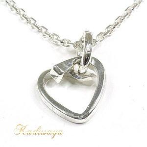 Hermes Heart Motif Necklace Sv 925 40 Cm Pendant Finished