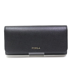 Furla Babylon Zipper Long Wallet 771766 Black Unused Item