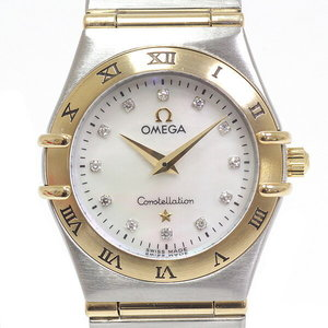 [Omega] Omega Ladies Watch Constellation Small 1272.75 White Shell 12 P Diamond