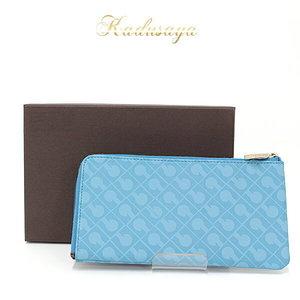 Geraldini Gherardini Softy Half Round Wallet Blue Polyester / Polyurethane Coating Leather Ygh-7950834-523 (Ghp 34)