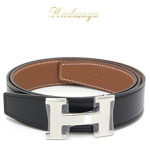 Hermes H Belt Reversible Vau 135 / Vaudo Togo Black Gold Silver Hardware (With Gloss) 110 32 C Engraved (Made In 2018) Unused Item