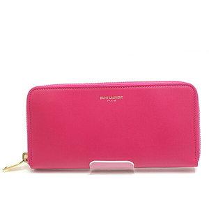 Saint Laurent Paris Round Fastener Wallet 315859 Bm 00j Pink Unused Item
