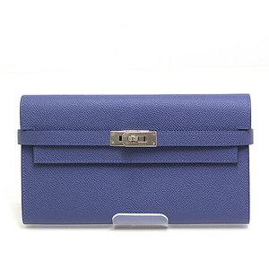 Hermes Kelly Wallet Long Velso Blue Brighton X Capsine Epson C Engraved (Made In 2018) Unused Item