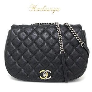 Chanel Shoulder Bag Black Paris Limited Item Clean A Rank
