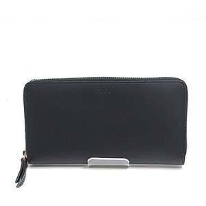 Gucci Round Fastener Long Wallet 410102 Black Unused Item