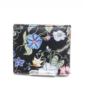 Gucci Foldable Wallet 365475 Black Multi Color Flora Night Unused Item