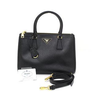 Prada Safiano Lux 2way Handbag Saffiano Black Shoulder Bag Bn1801 As Good New