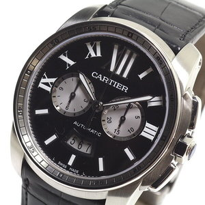 [Cartier] Cartier Men's Wrist Watch Calibrant De Chronograph W7100060 Black (Black) Dial