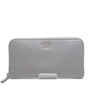 Prada Round Zipper Long Wallet 1ml 506 Malmo Gray Unused Item