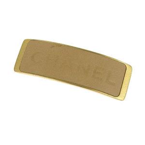 Genuine Chanel Valletta Hair Accessories Beige × Gold 00a