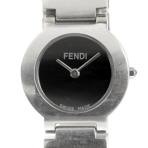 Real Fendi Ladies Quartz Wrist Watch Black Letterboard