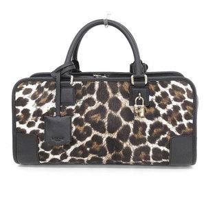 Loewe Loewe Amazonas 35 Handbag Harako Leopard Pattern Brown Black * Bg