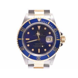 中古 ロレックス サブマリーナ 16613 YG/SS L番 バイオレット文字盤 自動巻 腕時計 メンズ ROLEX◇