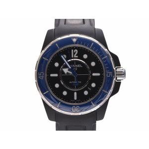 Second-hand Chanel J12 42 Mm Marine H2559 Black Ceramic / Rubber Letter Blue Bezel Self-winding Men's Watch ◇