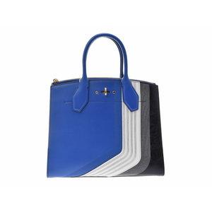Used Louis Vuitton City Steamer Mm Blue Strap M54763 Women's 2 Way Bag New Shoulder ◇