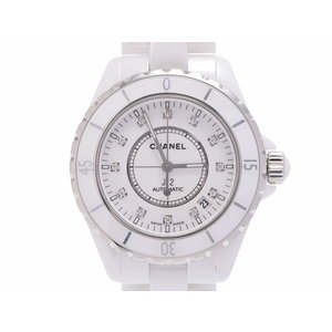 Second-hand Chanel J12 38mm White Ceramic 12p Diamond H1629 Galler Automatic Winding Watch Men's ◇