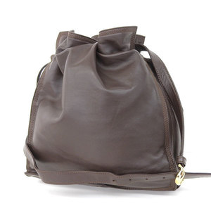 Loewe Nappa Leather Drawstring Shoulder Bag Flamenco Brown