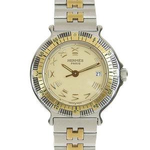 Hermes Captain Nemo Women's Quartz Combination Watch Silver Gold 327404