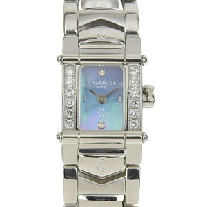 Charriol Chariol Columbus Side Diamond 1ntrm9 Watch Silver Women's
