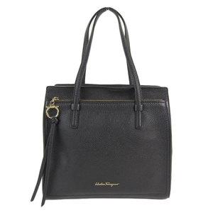 Salvatore Ferragamo Ferragamo Amy Calf Leather Tote Bag Black