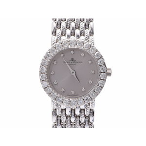 Used Baume & Mercier Ladies Watch 12p Diamond Wg Bezel Silver Dial Quartz ◇