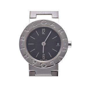 中古 ブルガリ ブルガリブルガリ23 SS 黒文字盤 BB23SS ギャラ 修理明細書 クオーツ レディース 腕時計 BVLGARI◇
