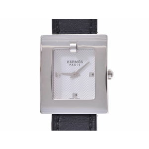 Used Hermes Belt Watch Be1.110 Ss Leather Chest Galery Replacement Quartz Ladies ◇