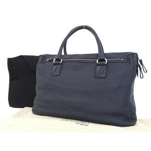 Zanellato Zanelat Punching Leather Tote Bag Hand Shoulder Navy Used   20180920  992e1f8234a37