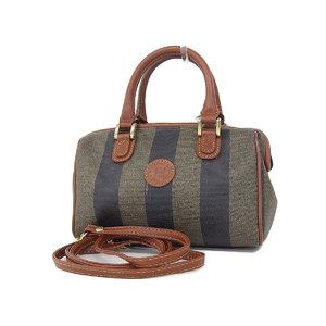 Fendi Pecan 2way Handbag Mini Boston Vintage Shoulder Brown Black Beige [20180831]