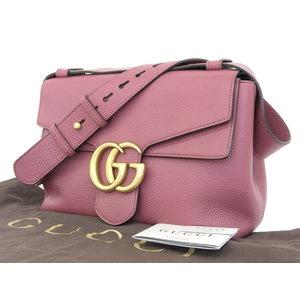 Gucci Mermont Leather Handbag Shoulder Pink System 401173 Used  20180920  dde66f24f7b0e