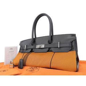 edd330eeaf Hermes Box Calf Shoulder Birkin Potamos Tote Bag Hand Orange Black □ I  Engraved  20180608