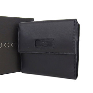 Gucci Vintage Compact Purse Leather Black [20180831]