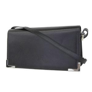 Celine Pearls Embossed Vintage Shoulder Bag Hand Black Second [20180914]
