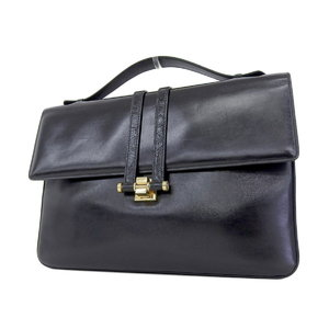 Gucci Interlocking Vintage Clutch Bag Second Black [20180831]