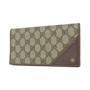 Gucci Gg Canvas Folding Wallet Pvc Vintage Beige Brown [20180831]