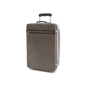 Goyard Goyar Herringbone Carry Case Travel Bag Brown [20180831]