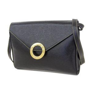 Celine Logo Vintage 2way Shoulder Bag Clutch Black Second Hand [20180920]