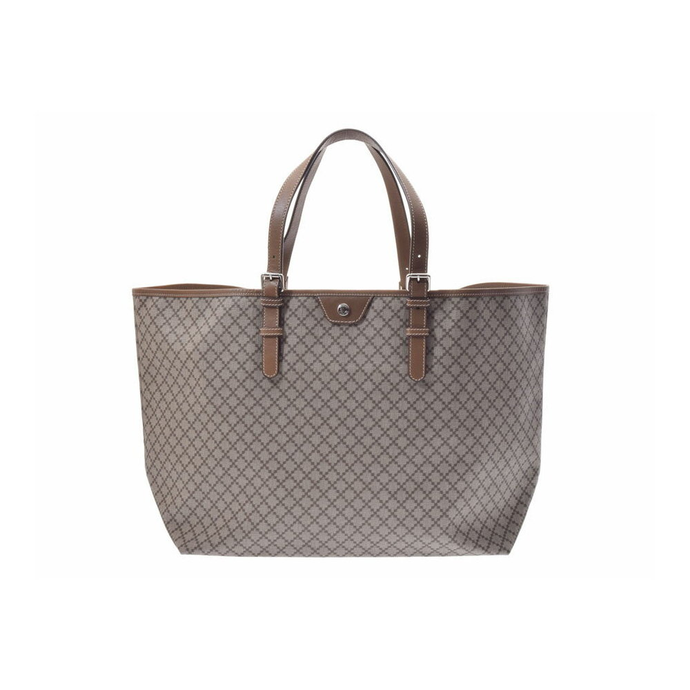 7bbe688b01fe Used Gucci Tote Bag Diamante Pvc Beige Type / Brown ◇