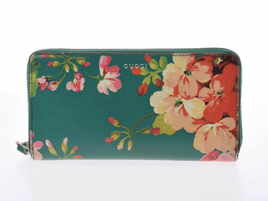 7033aa77c14 Authentic Used Gucci Round Fastener Wallet Blooms Floral Print  805000918503000