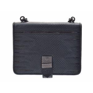 Used Bottega Veneta Chain Shoulder Bag Python Green Metallic Ladies Unused ◇ 6aa2310efefbe