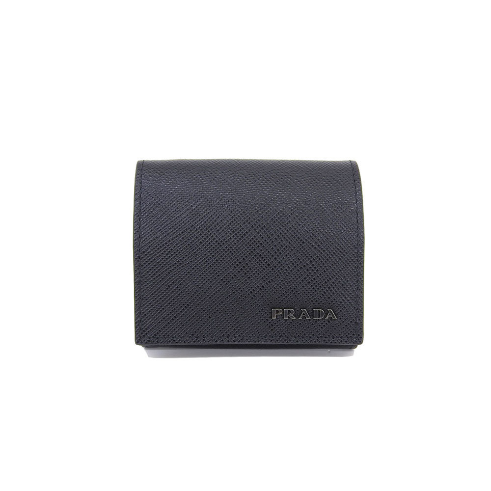 35d2345f1ca06c Authentic Prada Saferiano Coin Case Wallet Black 2mm 935