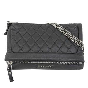 Real Jimmy Choo Chain Shoulder Bag Black