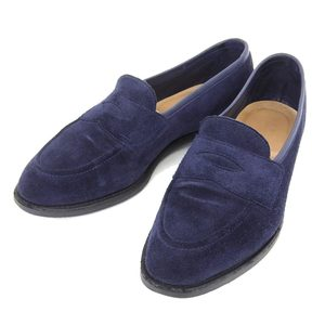 Genuine Edward Green Men's Suede Coin Loafer Navy Size 5 1 / 2e