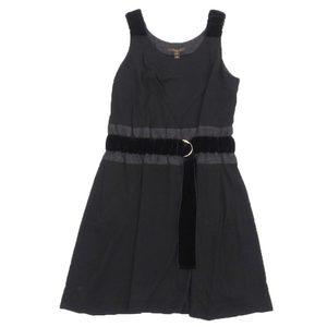 Authentic Louis Vuitton Women's Sleeveless Dress Black Size 38