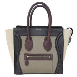 Genuine Celine Luggage Bag Handbag Multi Color